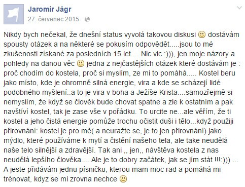 Jaromir Jagr-Zná zákon přitažlivosti
