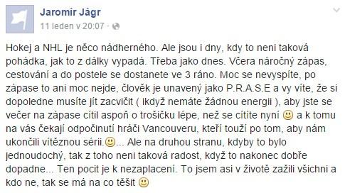 Jaromir Jagr - Nevzdávat se a na nic nečekej