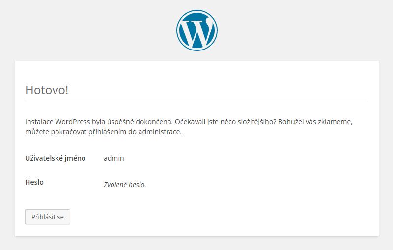 Wordpress instalace 06